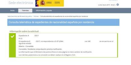 Resoluciones de Concesión de Nacionalidad Española Jonh