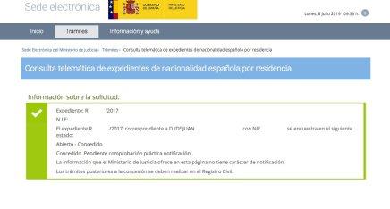 Resoluciones de Concesión de Nacionalidad Española Juan