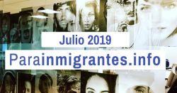 Noticias Destacadas de Parainmigrantes.info – Julio 2019