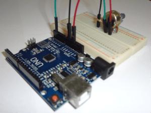 Circuito para demonstração do uso dos pinos analógicos.