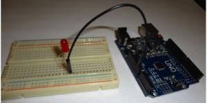 Iniciando circuito com led e terra