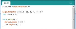 Início do código