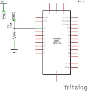 Diagrama do sensor de humidade