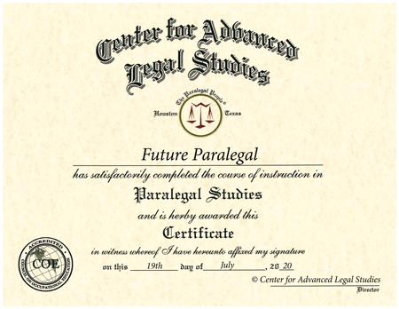 Paralegal Certificate