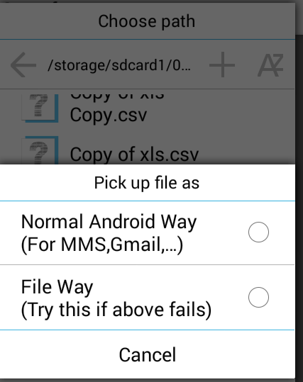 file select