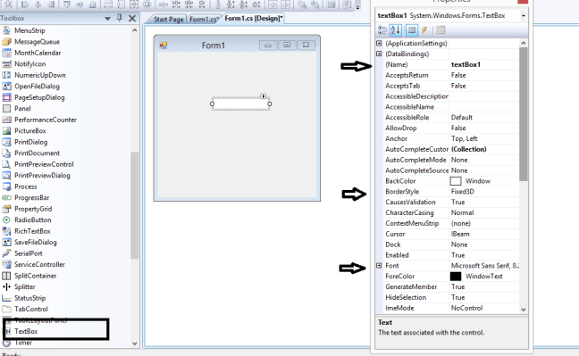 windows form application textbox control 1