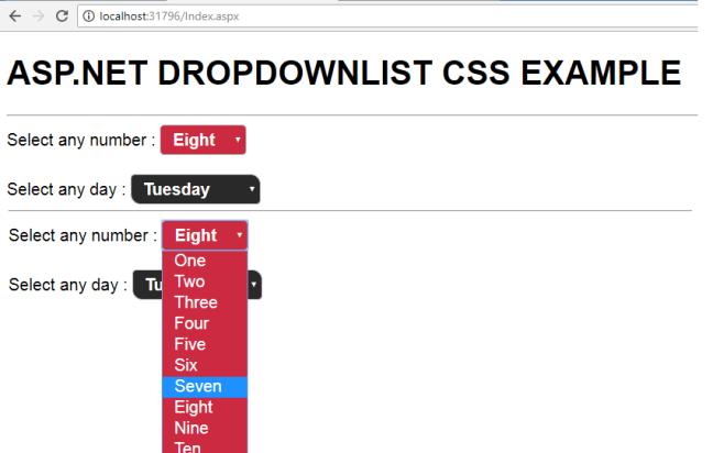 asp.net dropdownlist css style 001