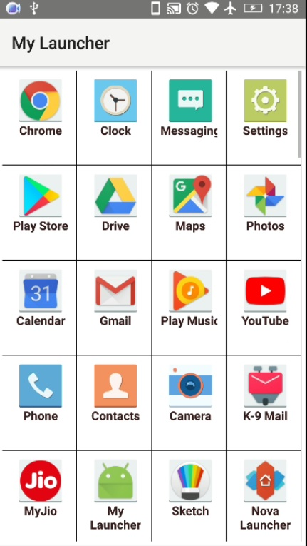create android launcher 0062