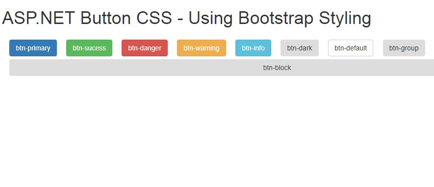 Asp Net Styling Buttons Using Bootstrap Css Parallelcodes