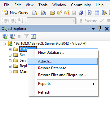 Install and Attach Northwind Database in SQL Management Studio sql attach