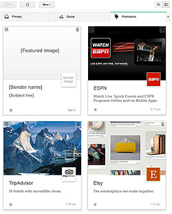 Gmail Grid View