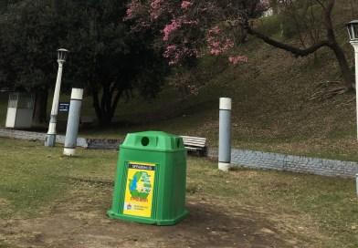 Empezaron a instalar campanas en espacios verdes para reciclar residuos