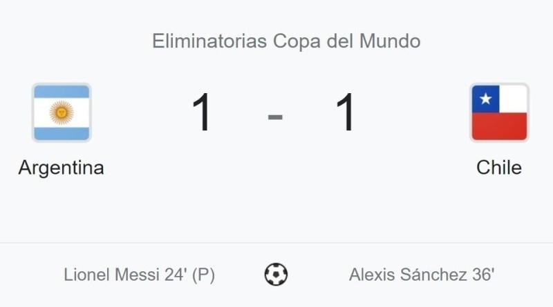 Argentina vs Chile, eliminatorias 2021