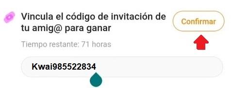 Código de invitación de Kwai