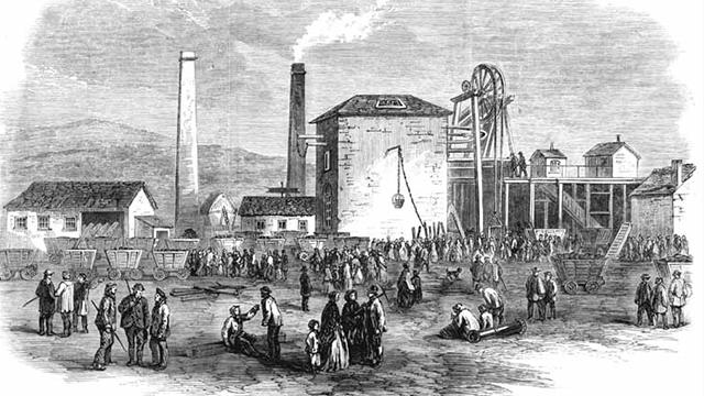 Morfa Colliery explosion London Illustrated News