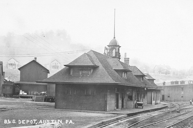 The Buffalo & Susquehanna Railroad depot in Austin, PA