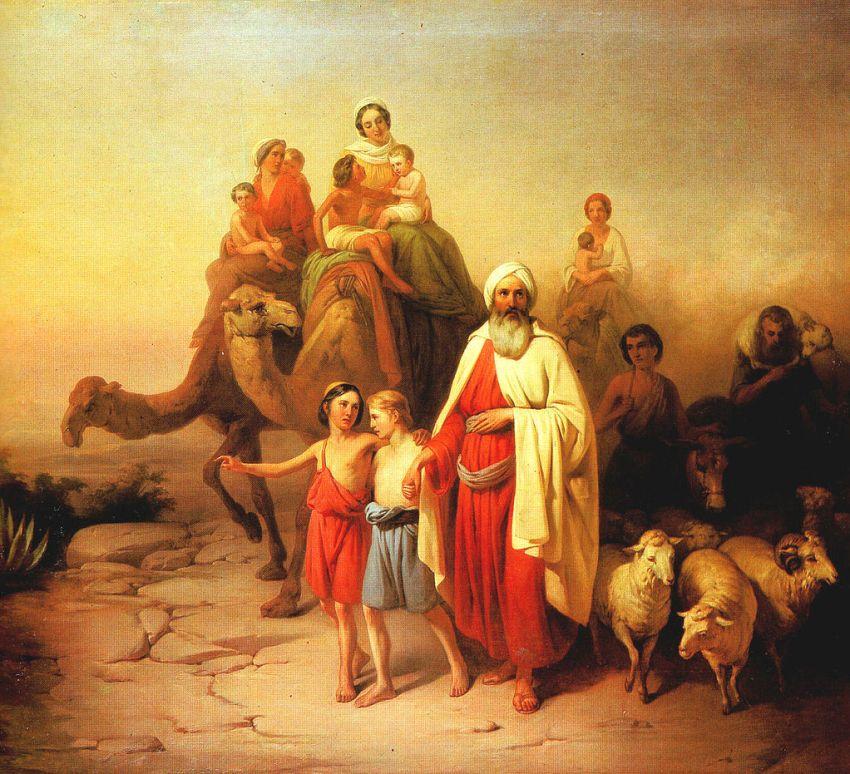 Abraham's departure by József Molnár
