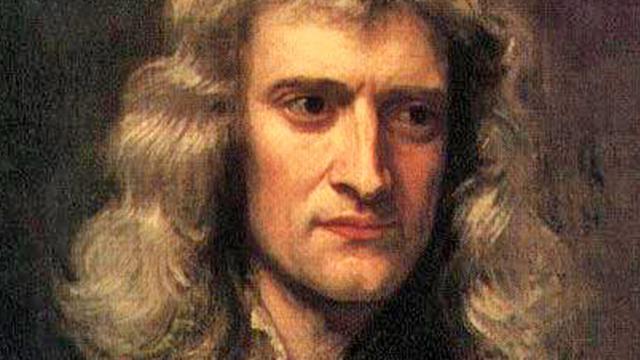 Portrait of Isaac Newton, by artist Sir Godfrey Kneller