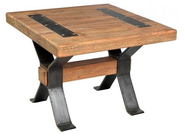 reclaimed original square table reclaimed timber with iron cross legs