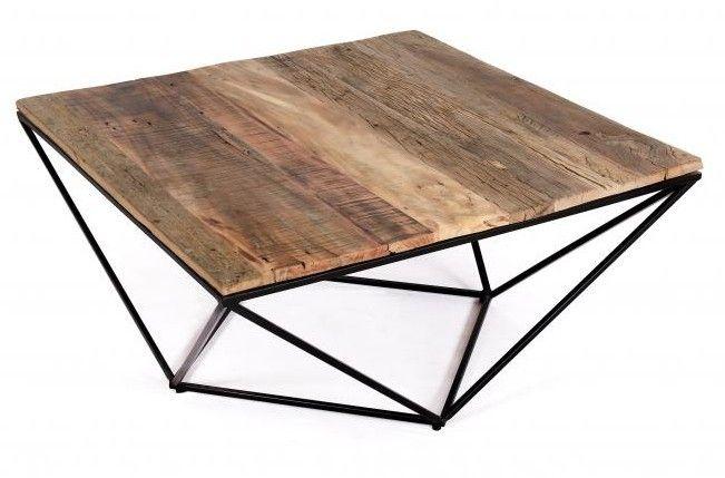 palu reclaimed teak coffee table square
