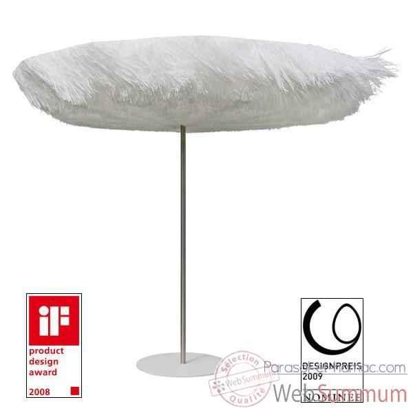 parasol sywawa frou frou blanc avec pied assorti 3339r003 sur parasol et hamac