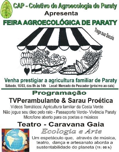 Paraty feira agroecologica paraty 6ª edição da Feira Agroecológica de Paraty acontece no sábado 10 de março