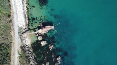 Trabocco Punta Torre vista ortogonale