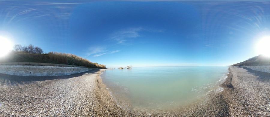 Foto panoramica Spiaggia baia del cecetto