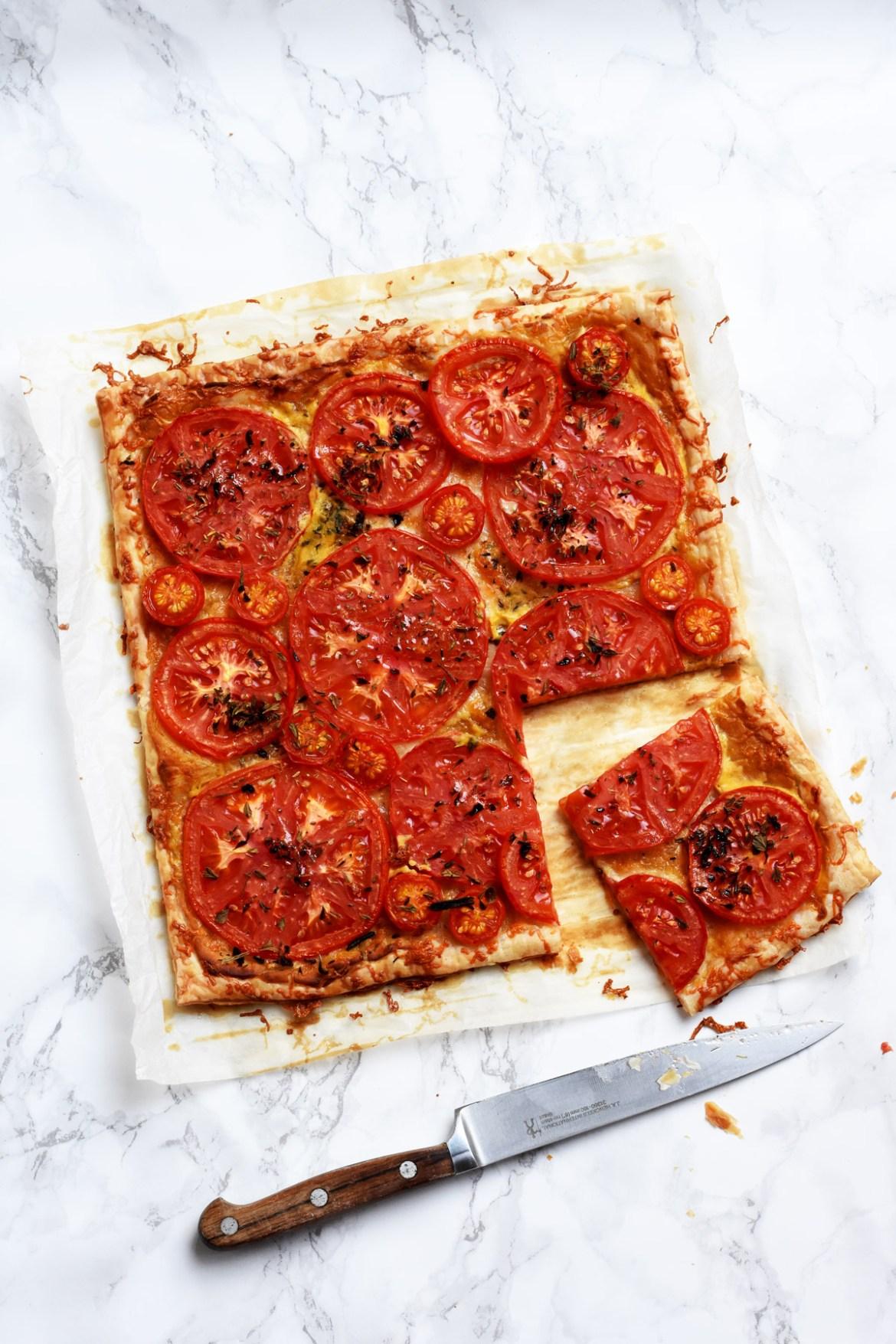 Tomato Trio and Dijon Mustard Tart