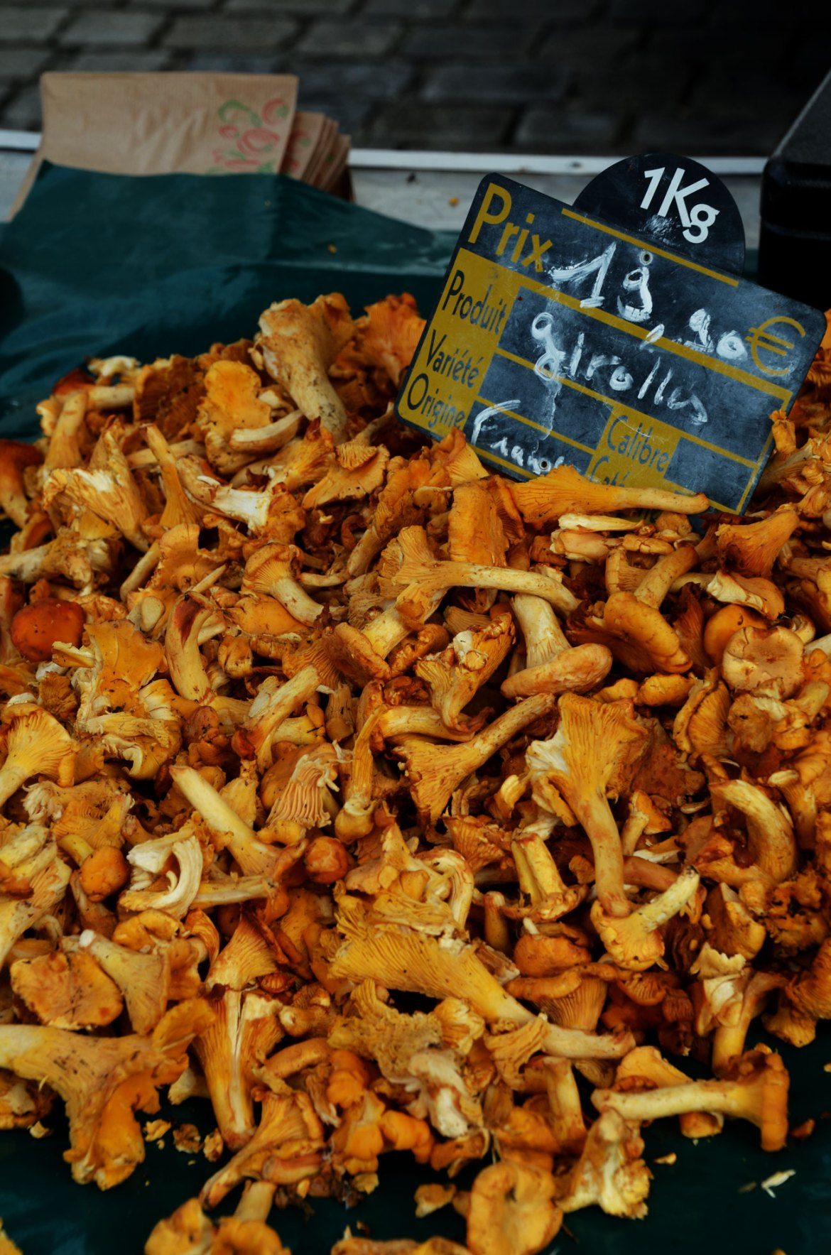 Fall at the market in Brittany
