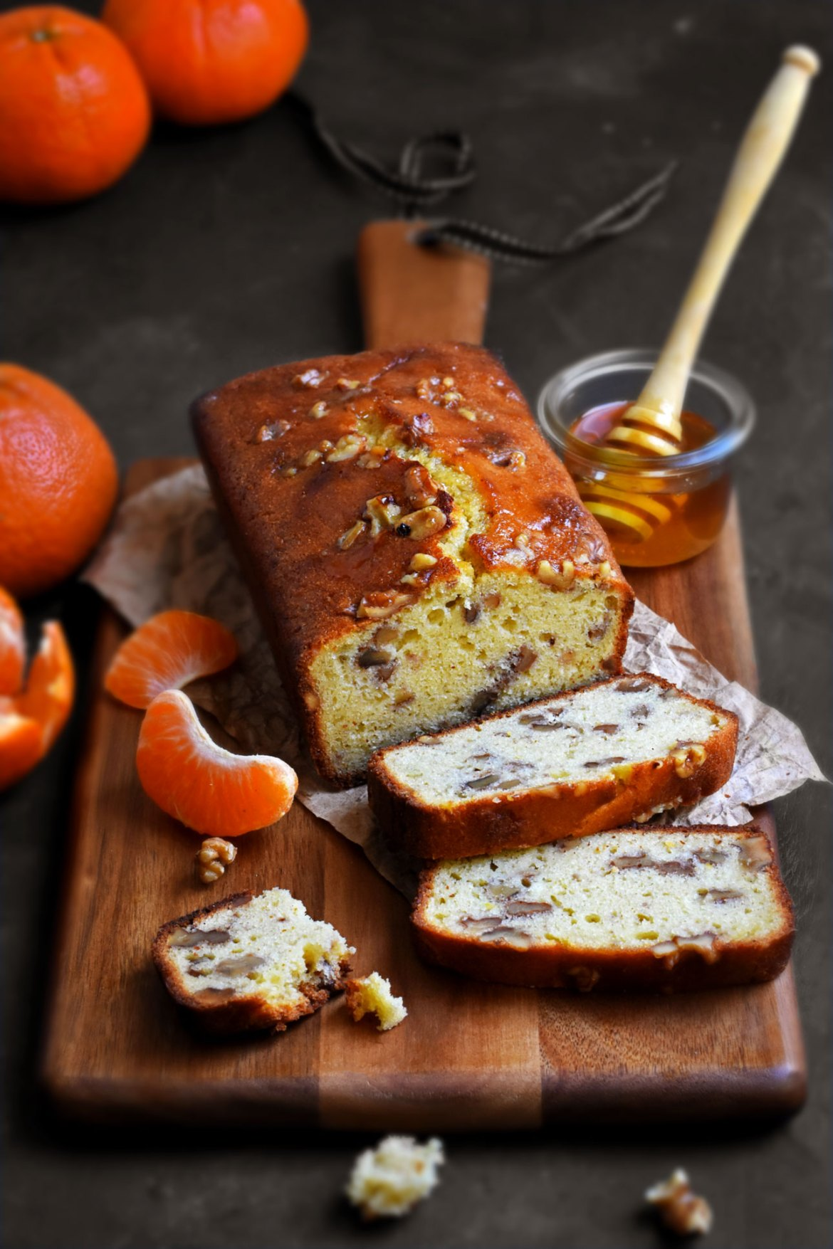 Tangerine Honey Walnut Cake
