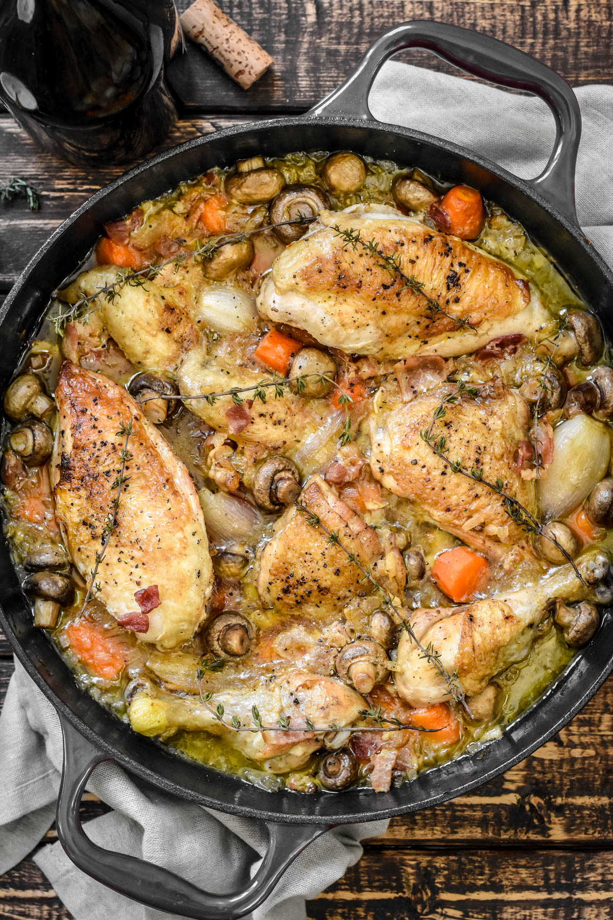 Coq Au Vin Blanc Pardon Your French