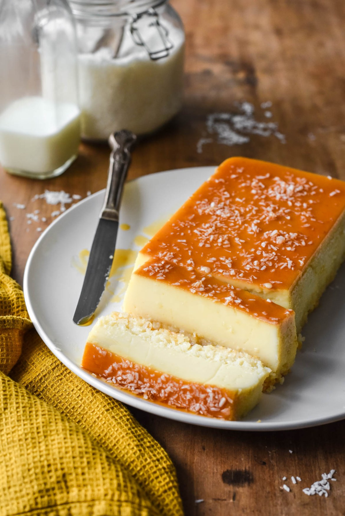 French Antilles Coconut Flan (Flan Coco)