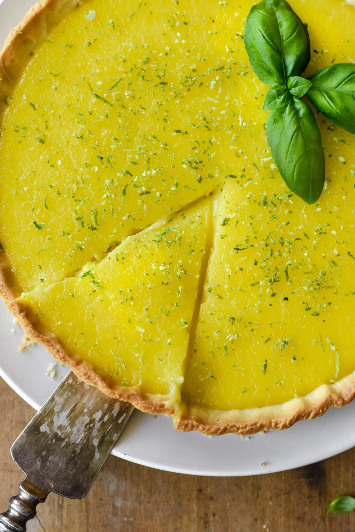 Lemon-Lime Basil Tart