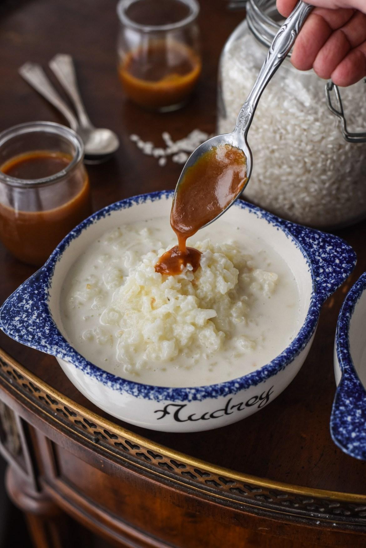 Riz au Lait with Caramel Sauce