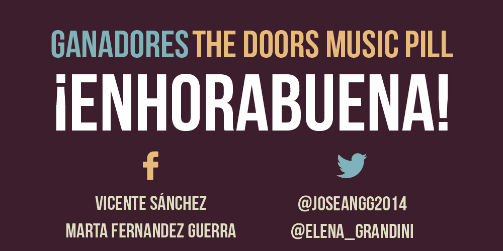Ganadores sorteo The Doors Music Pill