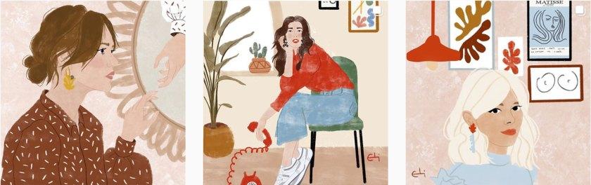 Ilustraciones Eli Martínez para el Día de la Mujer Blog Paredes