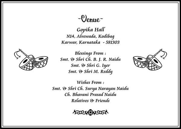 south indian wedding card wordings