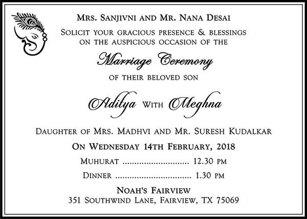 25 hindu wedding card wordings hindu