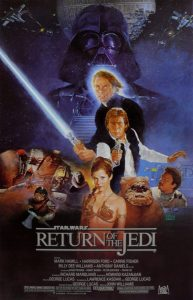 """Poster for the movie """"Return of the Jedi"""""""