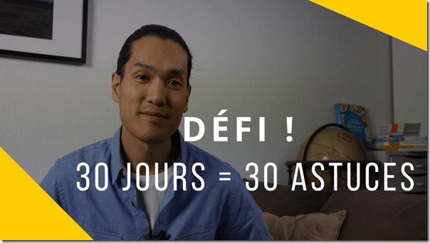 Cover - défi 30 jours
