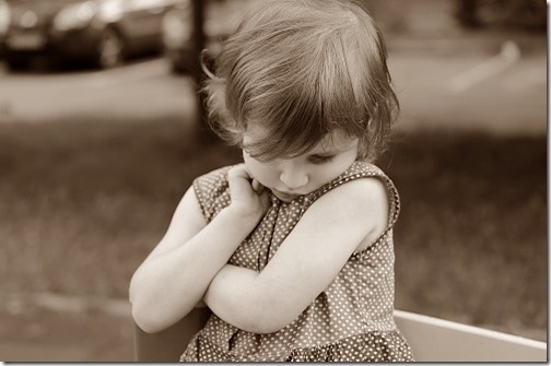 Enfant qui boude