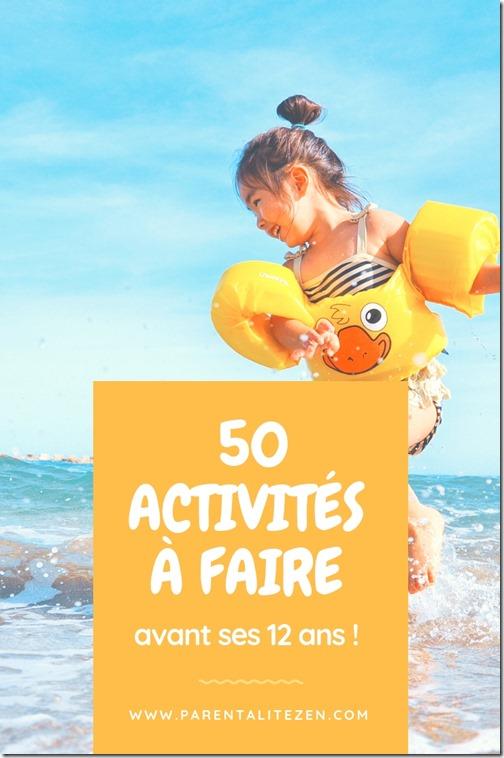 50 activités à faire avant ses 12 ans