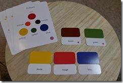 Nommer les couleurs en français et anglais