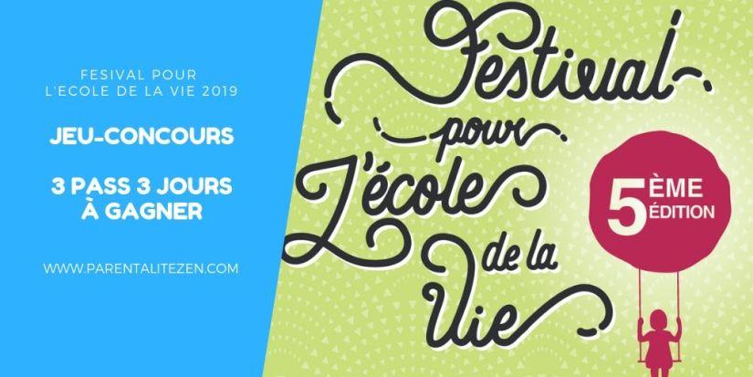 Jeu-Concours Festival pour l'Ecole de la Vie 2019