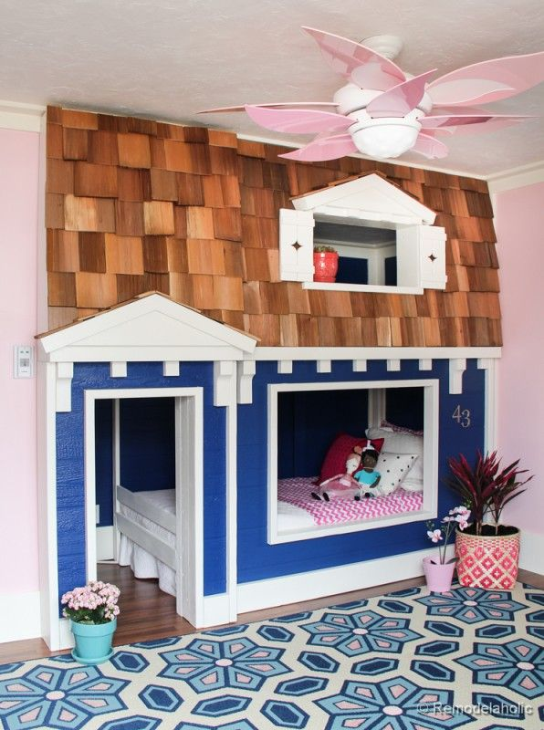Blue House for kids bedroom