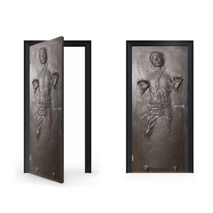 DoorWrap: Han Solo in Carbonite Vinyl Sticker for Door / Bedroom / Home