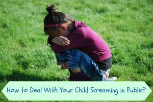 child screaming in public