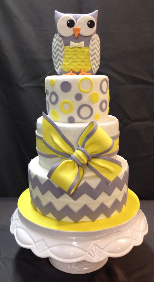 Grey Owl Yellow Baby And Shower