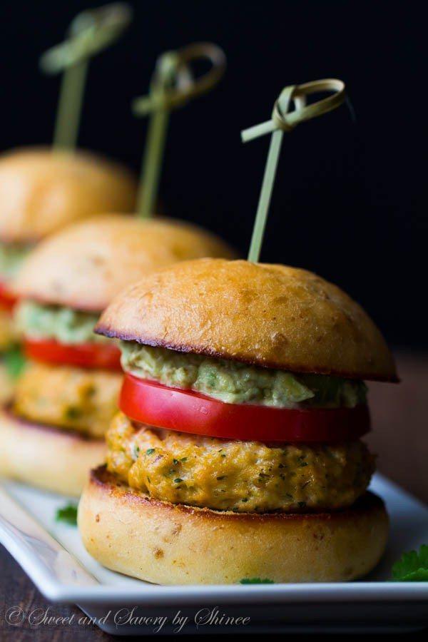 Salmon Burger Sliders